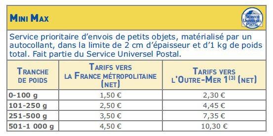 tarif lettre max curieuze tarif lettre max