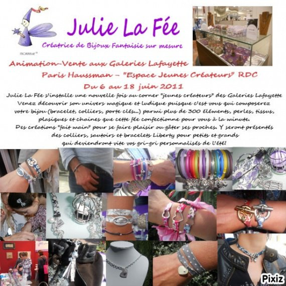 Animation-vente Liberty Galeries Lafayette Paris 6 au 18 juin 2011