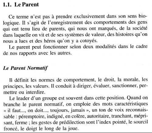 Analyse transactionnelle - le parent