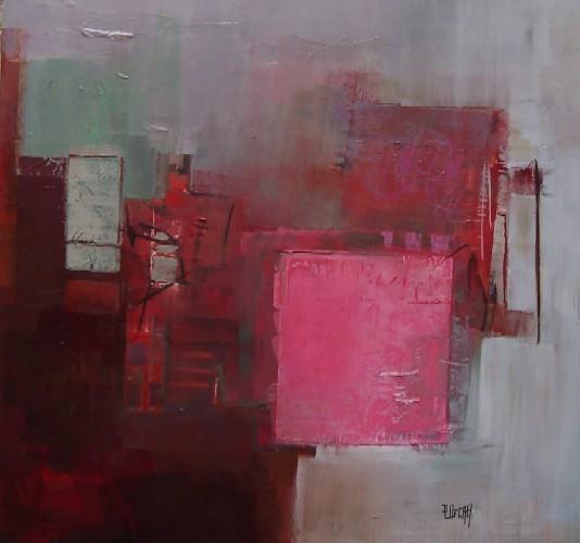 La vie en rose Acrylique sur toile 100 x 100cm