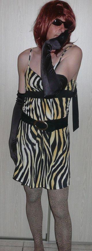 en robe