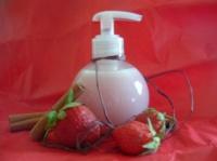 gel douche lait fraise canelle