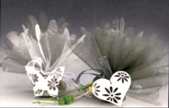 BACO papillon et coeur miroir pendant