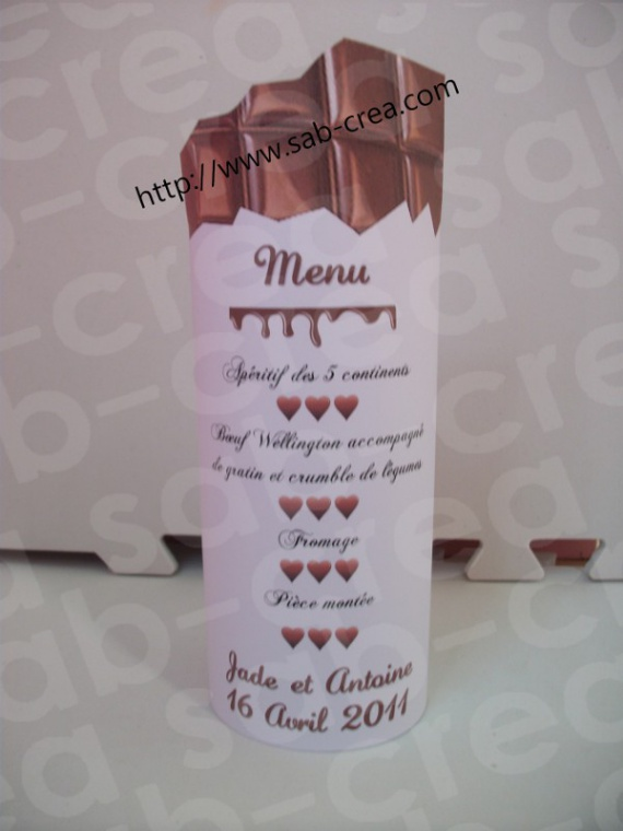 Id e menu photophore gourmand mariage fyra54 photos for Idee menu original