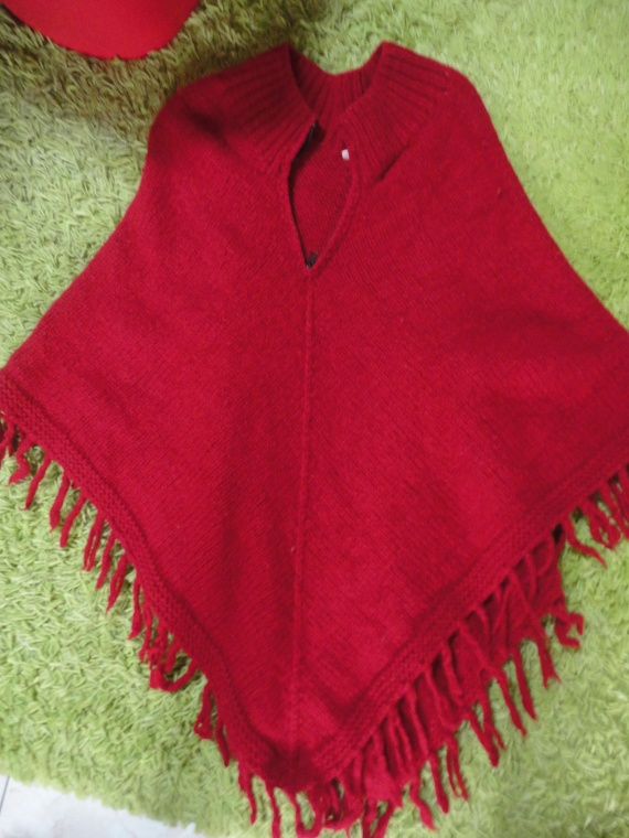 poncho en laine 100% made in nepal