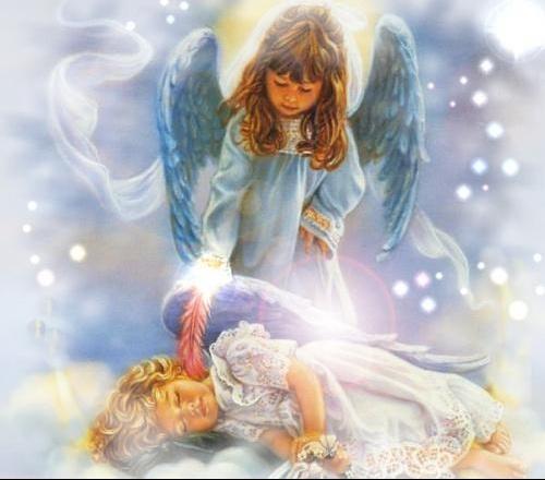 cette ange pour toi afin de soulager ta douleur .... courage petite Puce