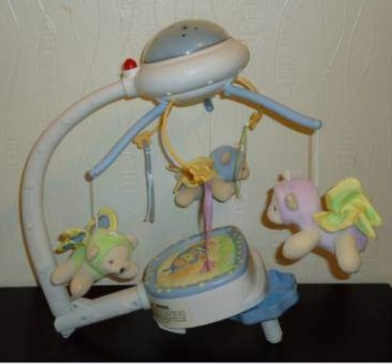 mobile musical et veilleuse - fisher price - doux rêves papillon
