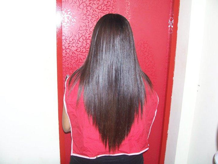 Degrade sur cheveux long dos