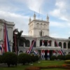 Asuncion - Le palais présidentiel pavoisé aux couleurs du bicentenaire