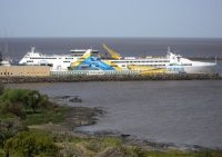 Colonia del Sacramento - Le bateau pour Buenos Aires