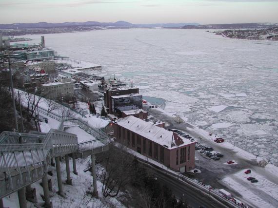 Québec - Les blocs de glace du Saint-Laurent