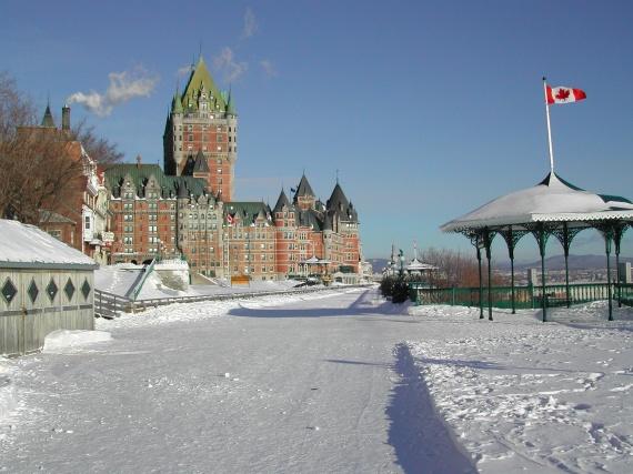 Québec - Le Château Frontenac et la terrasse Dufferin