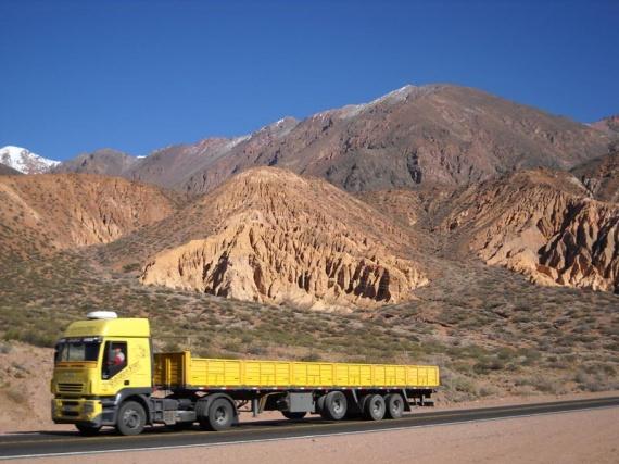 La route andine, entre Potrerillos et Uspallata