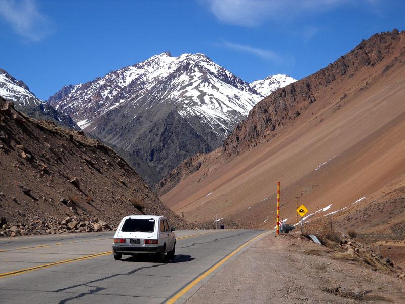 La route n°7, entre Argentine et Chili