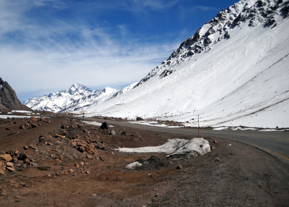 Route des Andes, vers le Chili