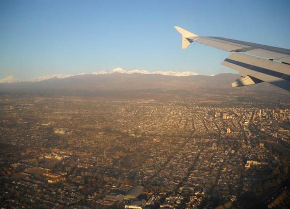 Atterrissage à Mendoza, sur fond de cordillère des Andes