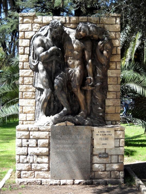 Mendoza - Plaza Italia, monument à l'émigration italienne