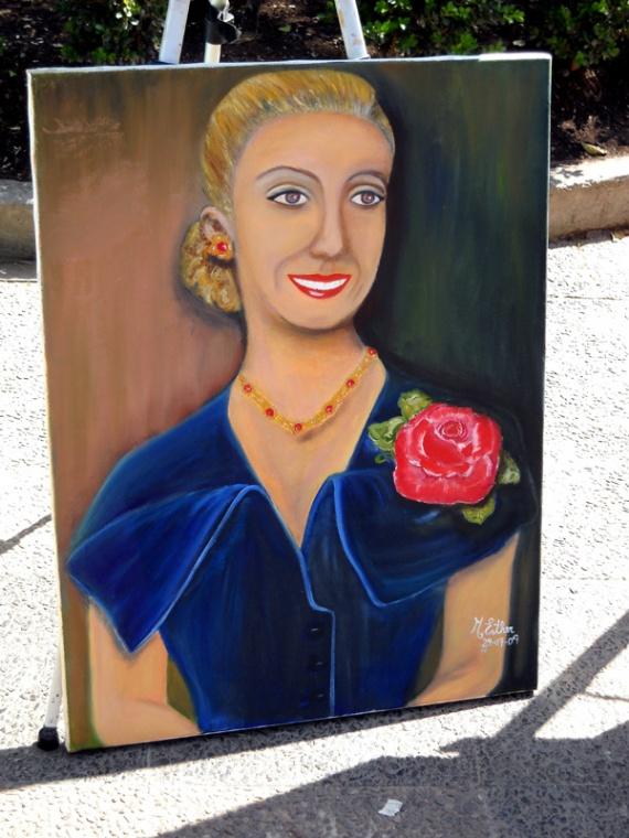 Le culte argentin d'Evita Perón - Salta, tableau naïf