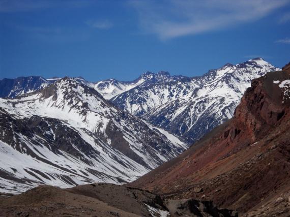 La route des Andes, à plus de 3000 m.