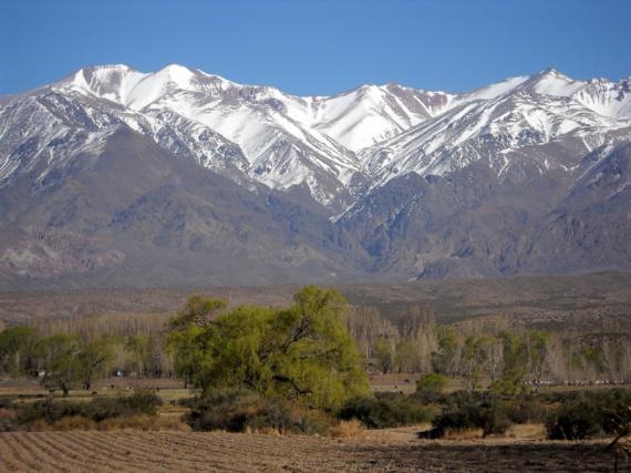 Les Andes à Uspallata