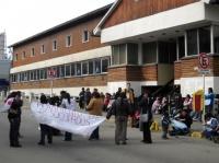 Ushuaia - Manif de chômeurs