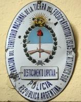Ushuaia - Ancien panneau de police