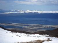 La baie d'Ushuaia vue du glacier Martial