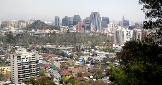 Panorama de Santiago, vu du Cerro San Cristobal