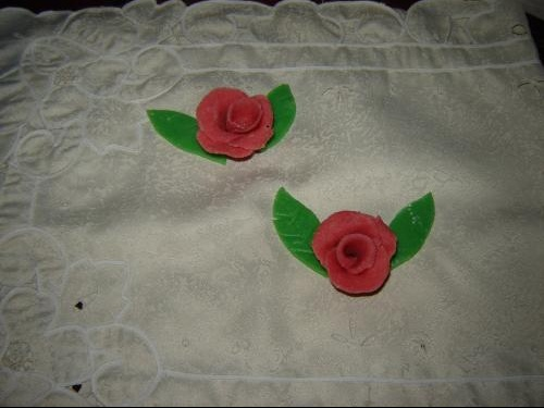 fleurs en massepain 3