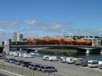 Camille sur le pont de Boieldieu (Juillet et Août 2010)