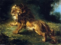 Eugene-Delacroix-_Lion-Stalking-Its-Prey-also-known-as-Lion-Watching-Gazelles-_