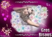Bisous Femme robe de fleurs