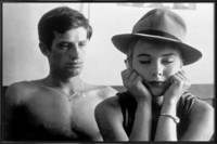 Jean-Paul-Belmondo-and-Jean-Seberg-in-Breathless-1960-Vintage-Photography-Archive-Affiche-sous-cadre