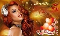 Amitiés Bisous Femme rousse