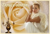 Douce soirée Femme rose et chandelier