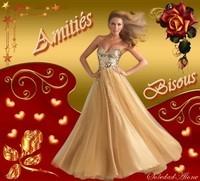 Amitiés Bisous Femme robe or
