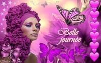 Belle journée Femme et papillons