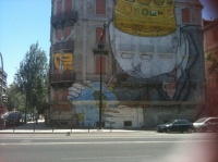 street art géant à Lisbonne