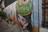 street artist SETH, derrière l'hôtel intercontinental de Phnom Penh