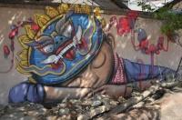 street artist SETH,julien malland, dans les rues de Phnom Penh