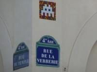 space invaders, à Paris rue du temple 4e
