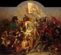 Ste Jeanne d'Arc au combat, anton hermann-stilke (1843)