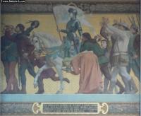 Ferveur populaire autour de Jeanne, jules eugène LENEPVEU,1874