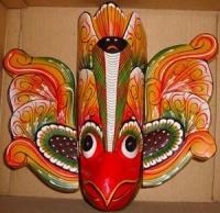 masque sri lanka, GURULU RAKSHA oiseau zarbi annule sorts des demons cobras