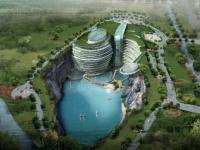 Hôtel de luxe de Songjiang, proche de Shanghai, fondé dans une ancienne carrière