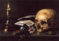 Pieter Claesz nature morte avec lettre et chandelle, 1625