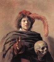 Frans Hals jeune homme à la tête de mort, 1626-28