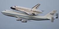 Endeavour amarree Boeing 747, dernier voyage
