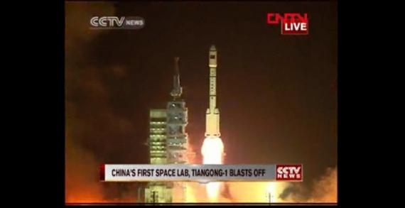 tiangong-1 lancement