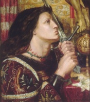 Dante Gabriel Rossetti Jeanne d'Arc embrassant l'épée de la délivrance (1863)
